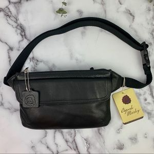 Osgoode Marley Black Leather SimpleSlim Waist Pack